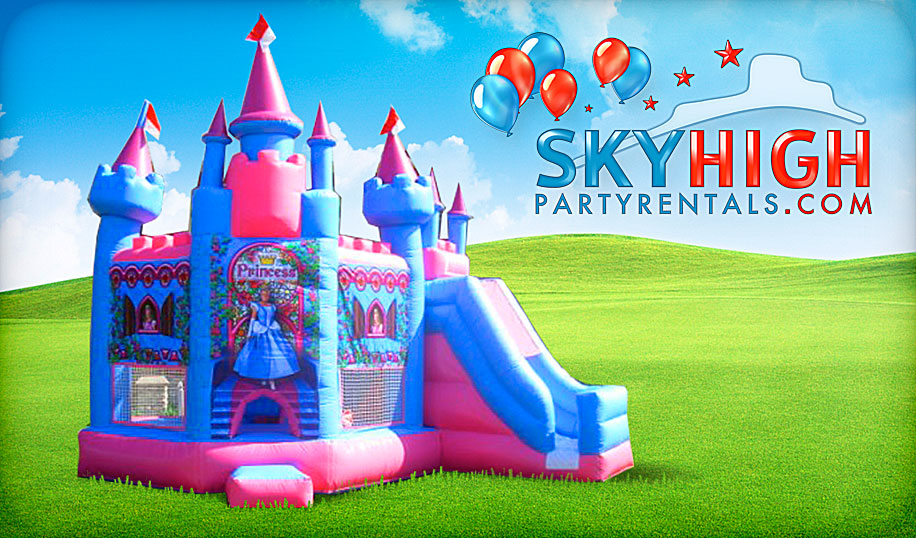 inflatable princess castle for rent