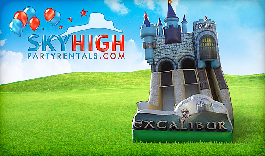 Inflatable Excalibur Slide