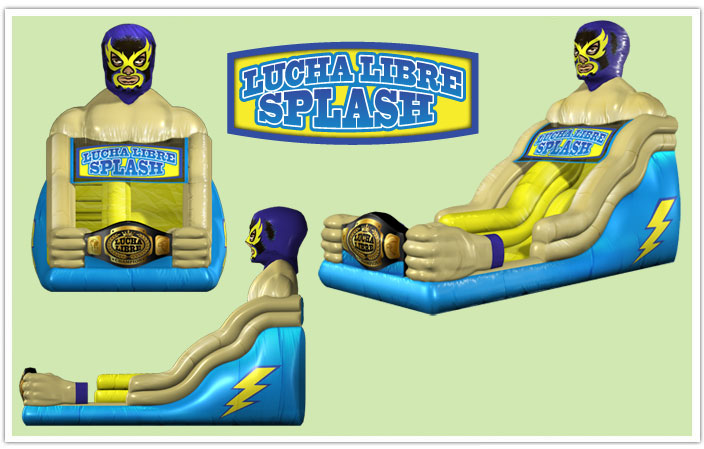 Lucha Libre Houston Water Slide
