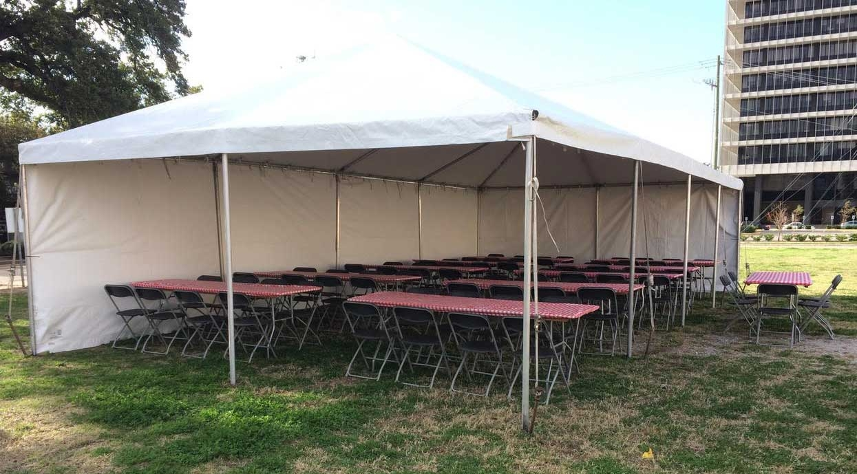 20'x40' High Peak Tent Rental Houston