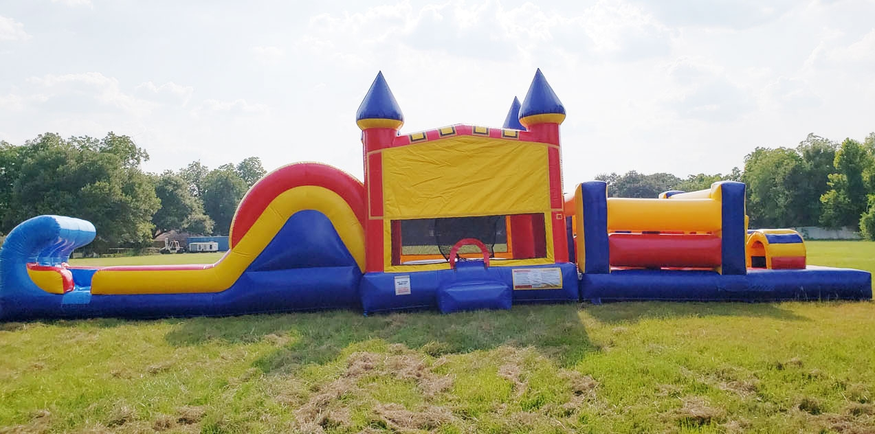 50ft Winnie the Pooh Obstacle w/ Wet or Dry Slide