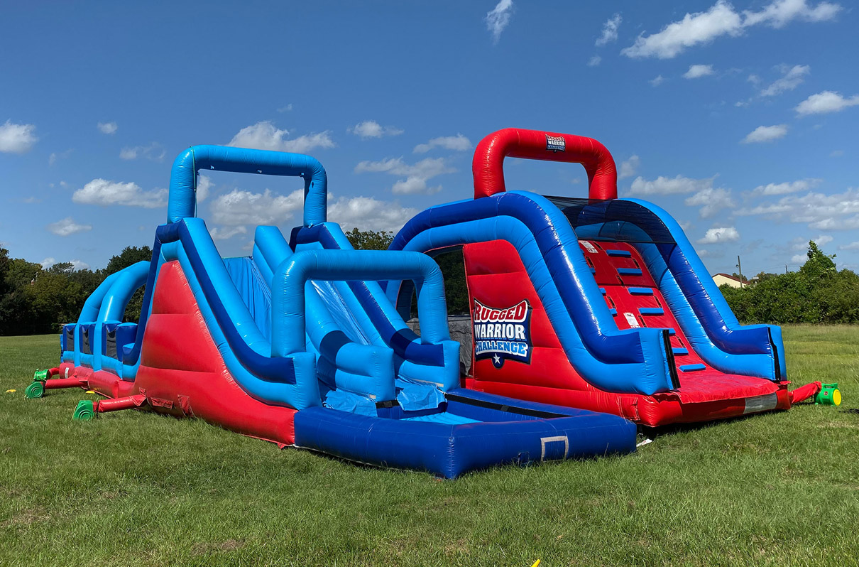 140ft Rugged Warrior Obstacle Course Bounce House Dallas