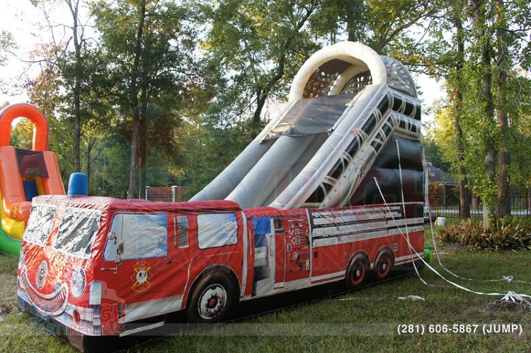 fire truck slide side