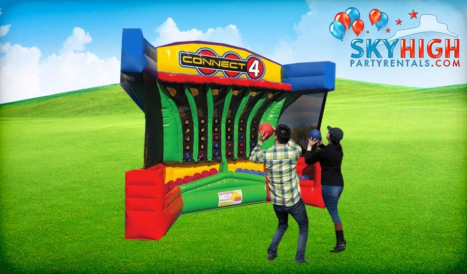 Basketball Connect 4 Inflatable Game Rental