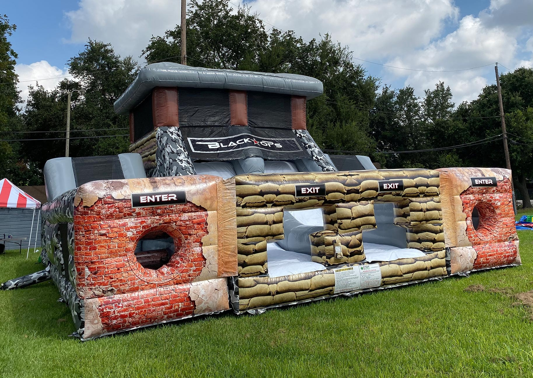 Military Black Ops Bouncy Castle