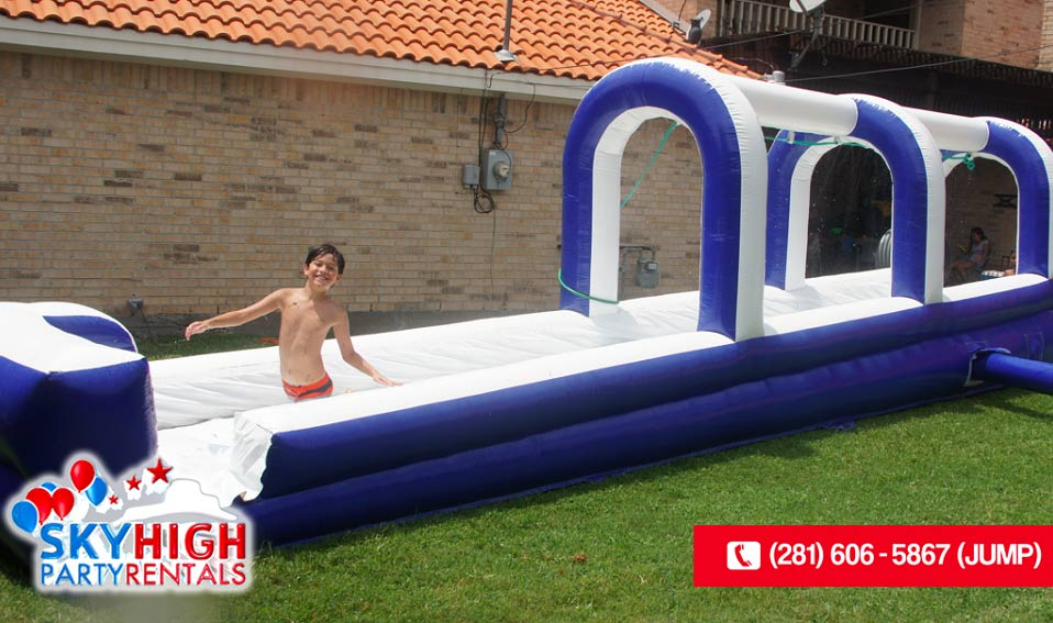 Side Angle Inflatable Slip and Slide