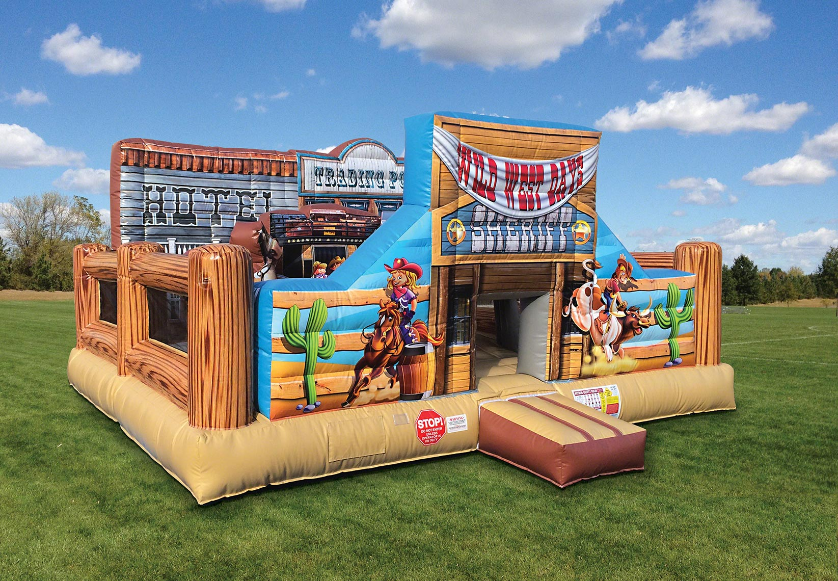 Side View Cowboy Bounce House Rentals