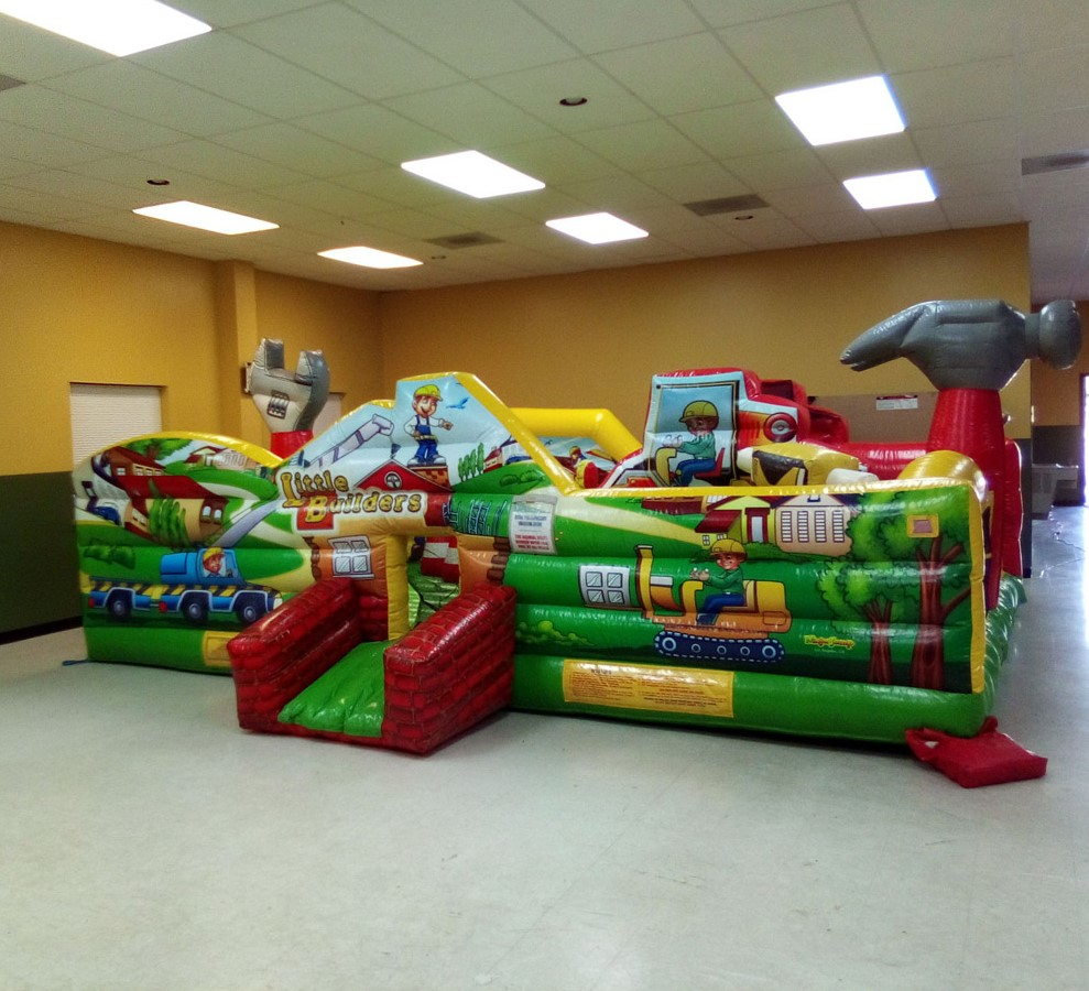 Construction Bounce House Indoors