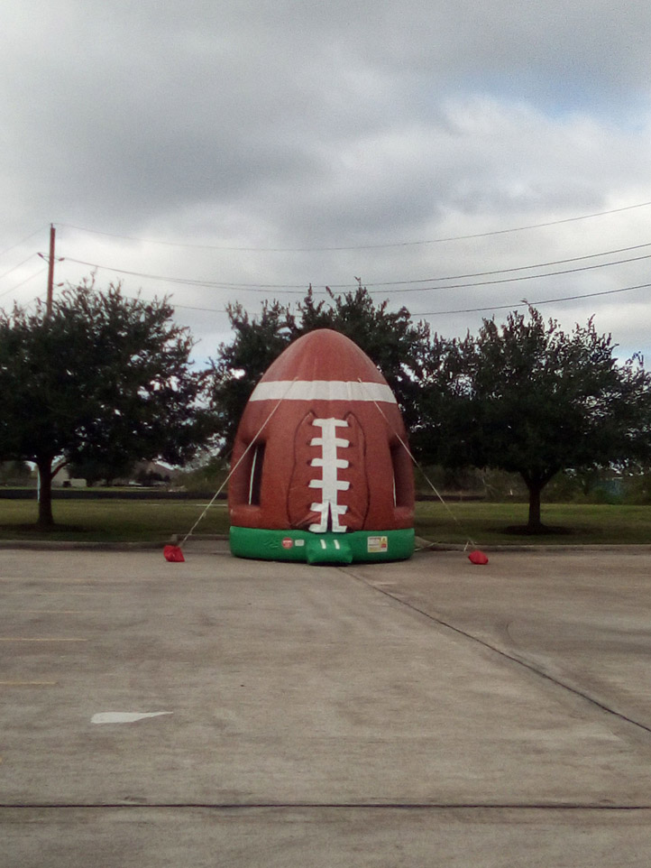 Football bounce house inflatable
