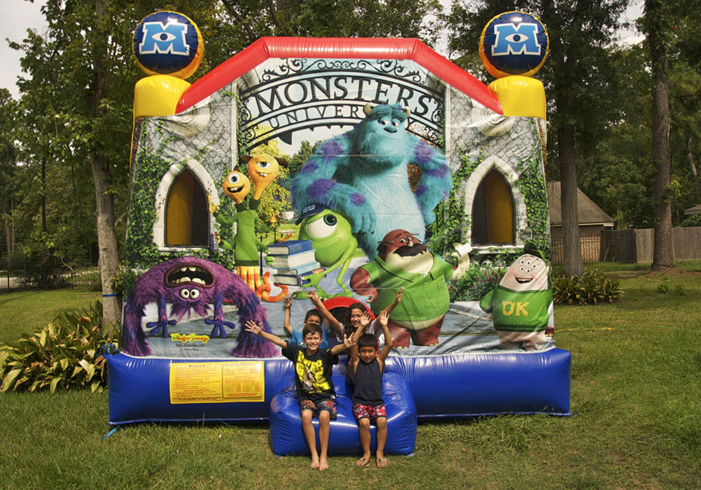 Monsters University inflatable banner
