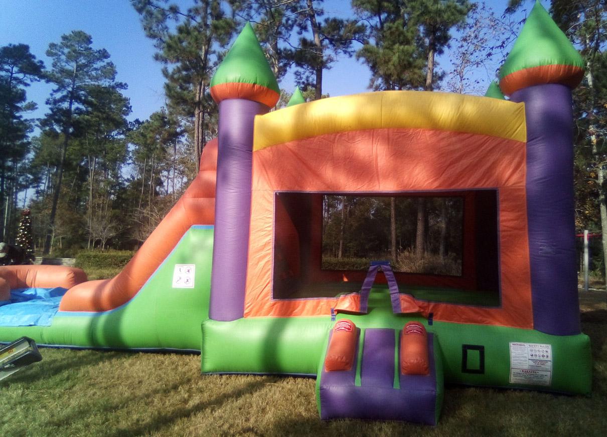 Dallas Big 3in1 Multi Color Combo slide bounce castle