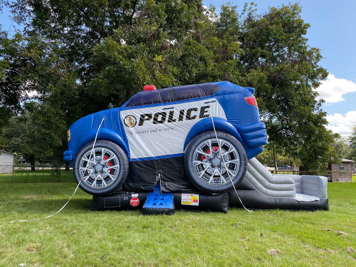 Police Cruiser Bounce House Texas