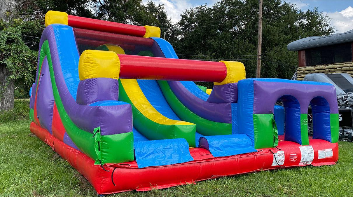 Retro Rockwall Slide Obstacle