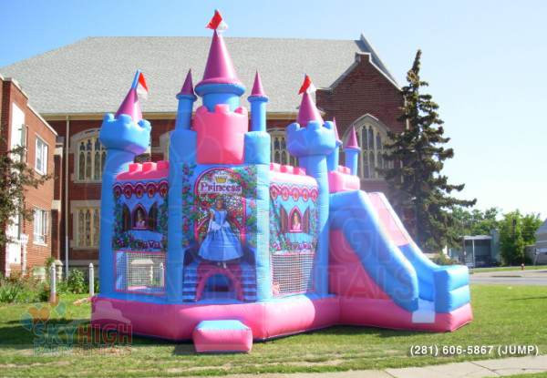Princess Inflatable moonwalk