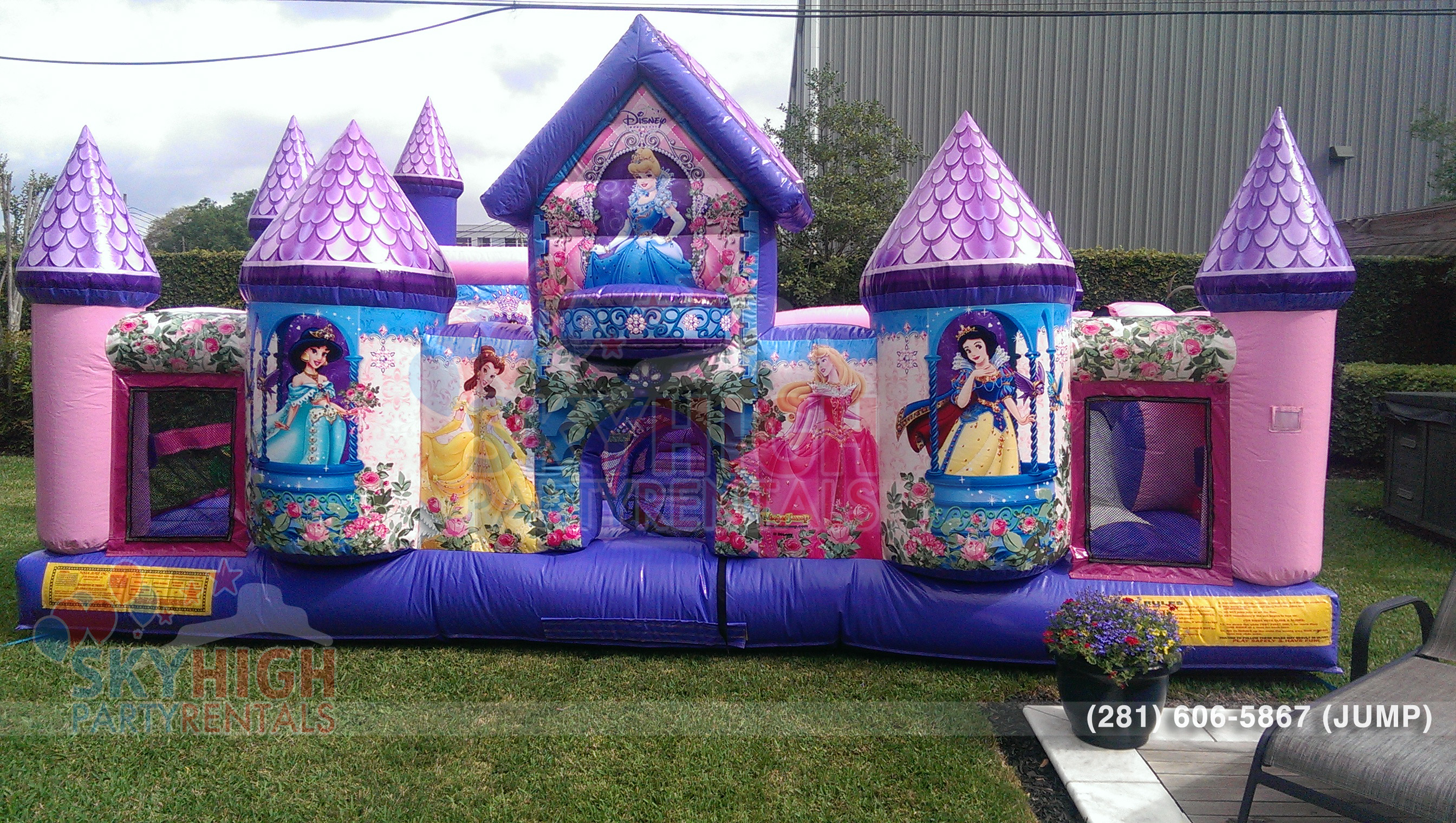 Front View of Princess Girls Moonwalk