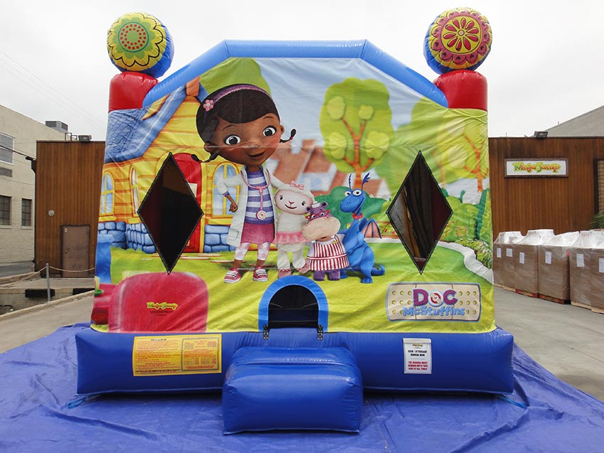 Front View Doc Mcstuffins Bouncy Castle