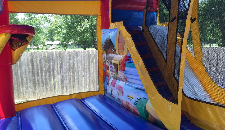Inside Doc Mcstuffins Bounce House