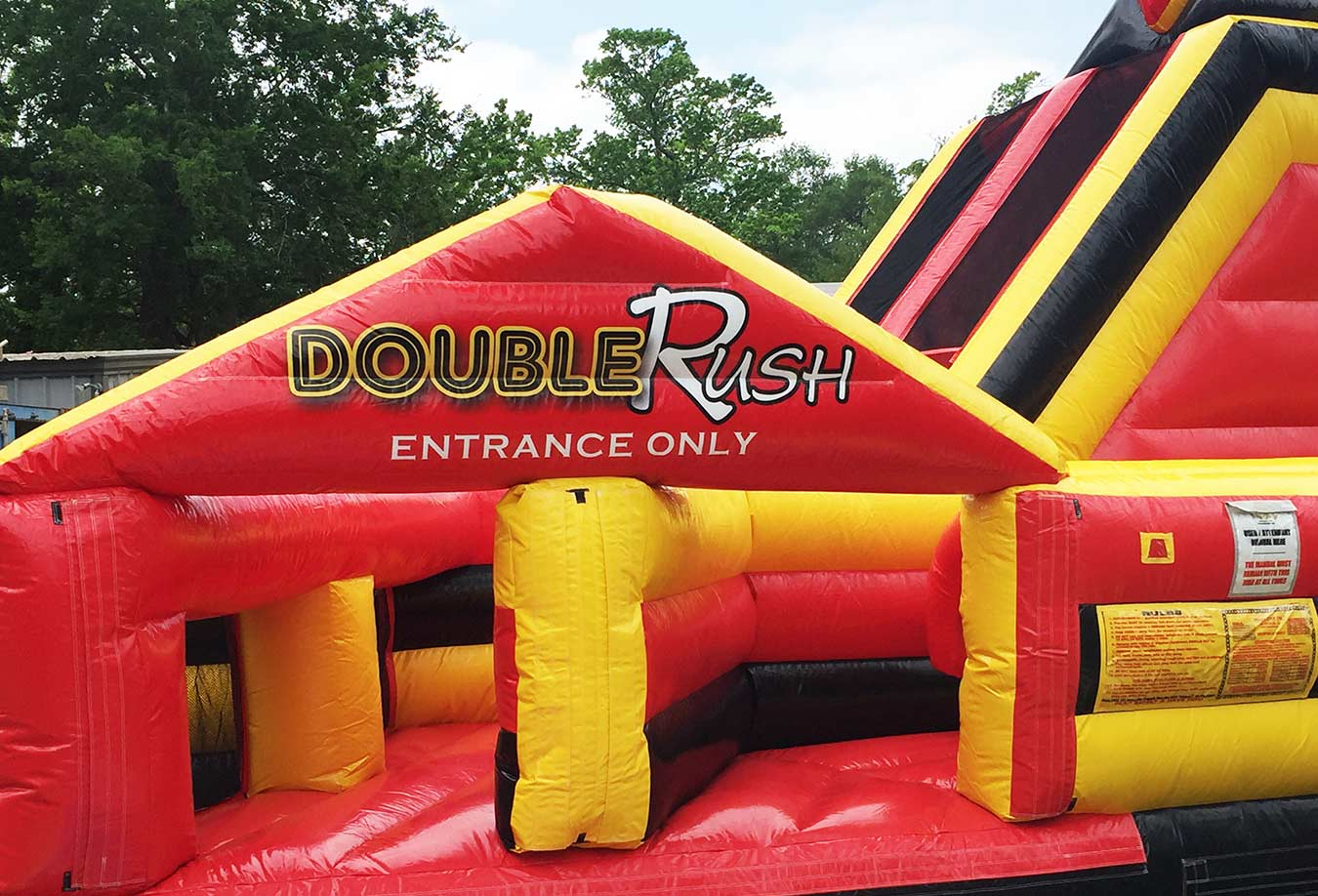 Double Rush Prom Inflatable Obstacle