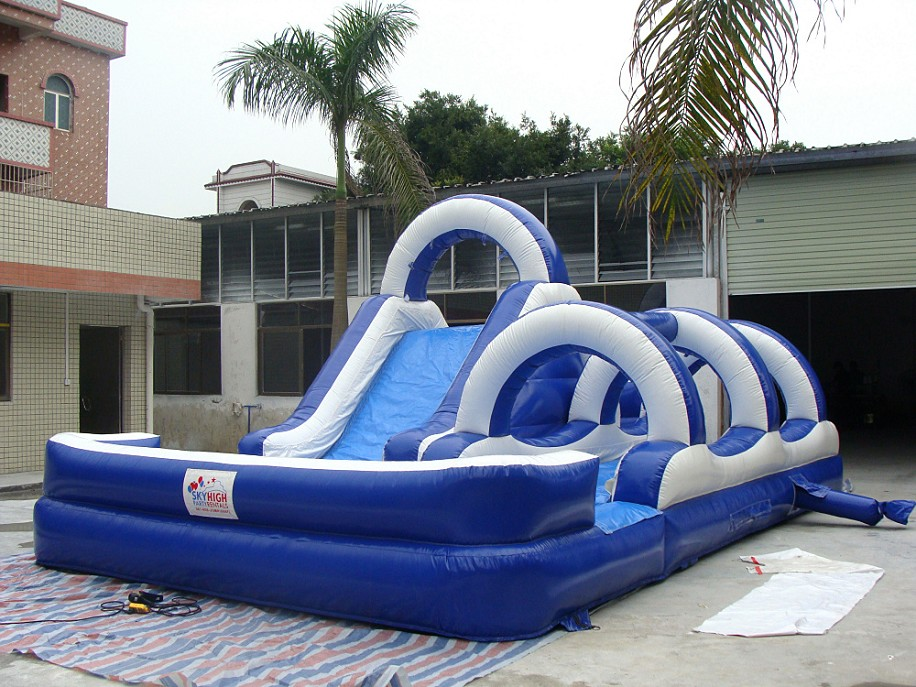 Double Water Slide Luau Party