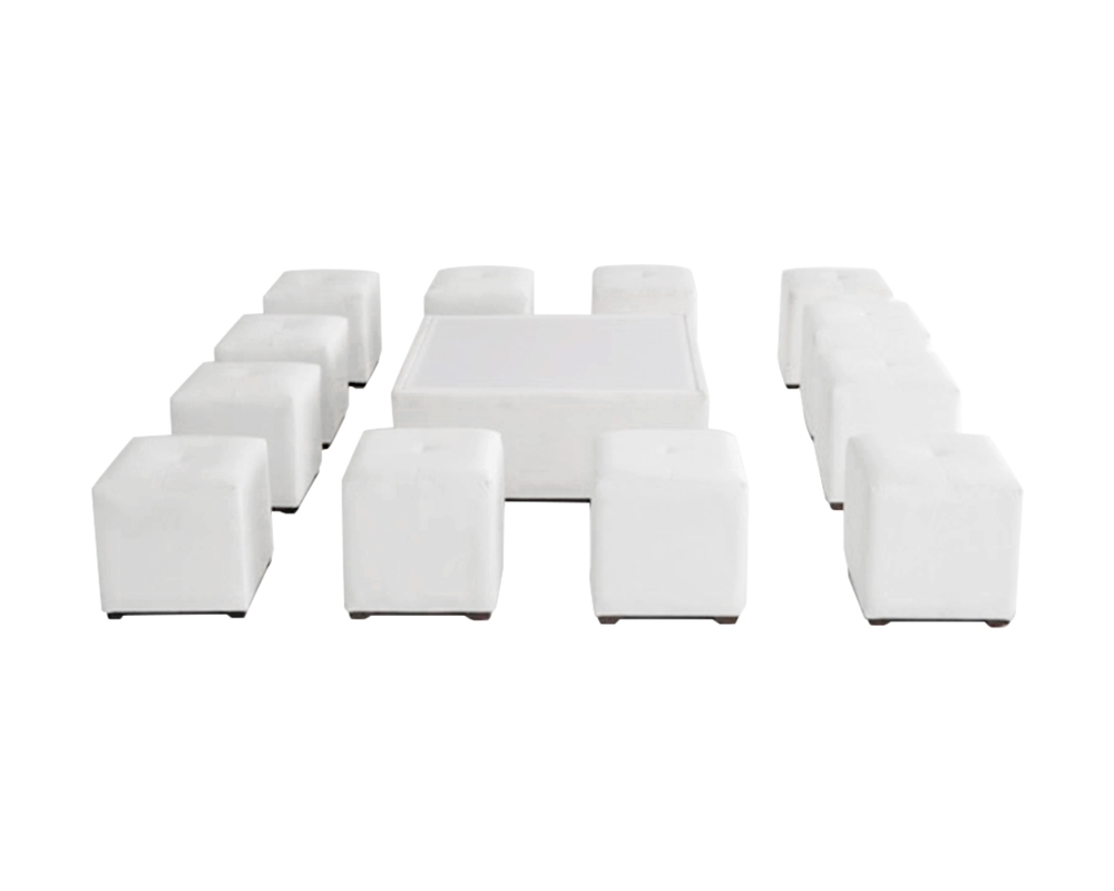Square furniture set for 12