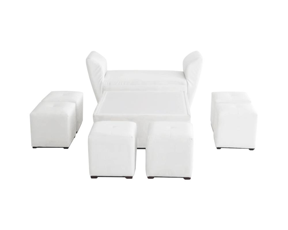 Roma Furniture square ottoman set for 8