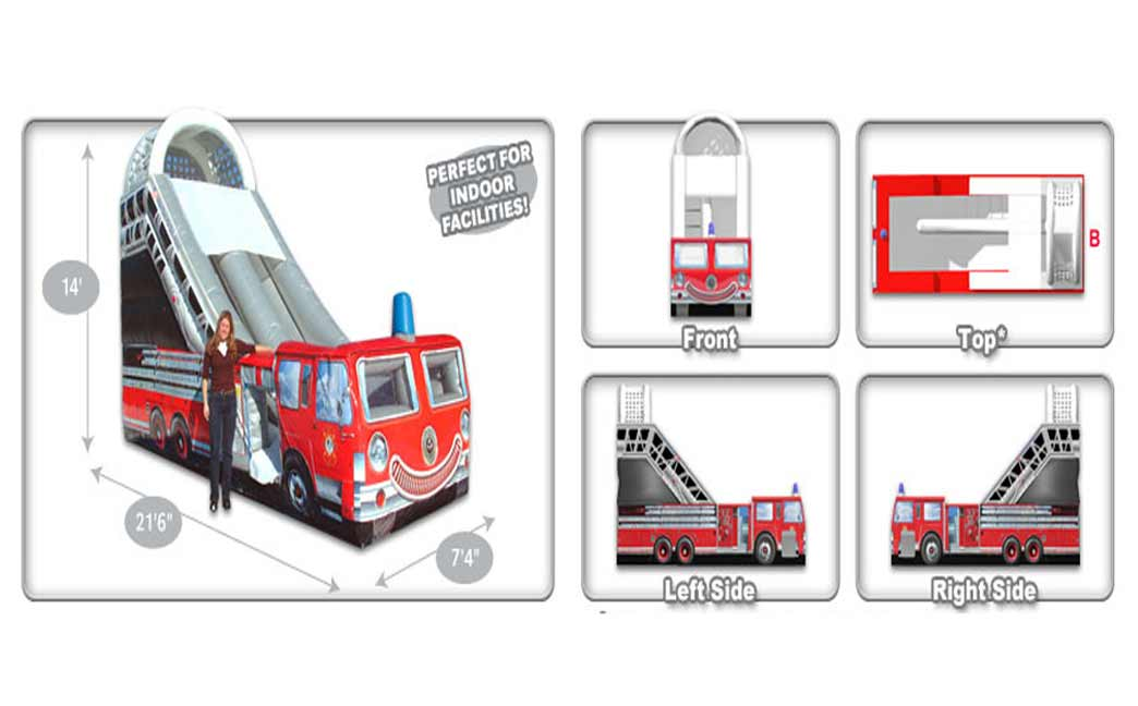 Fire Truck Inflatable Slide Schematics
