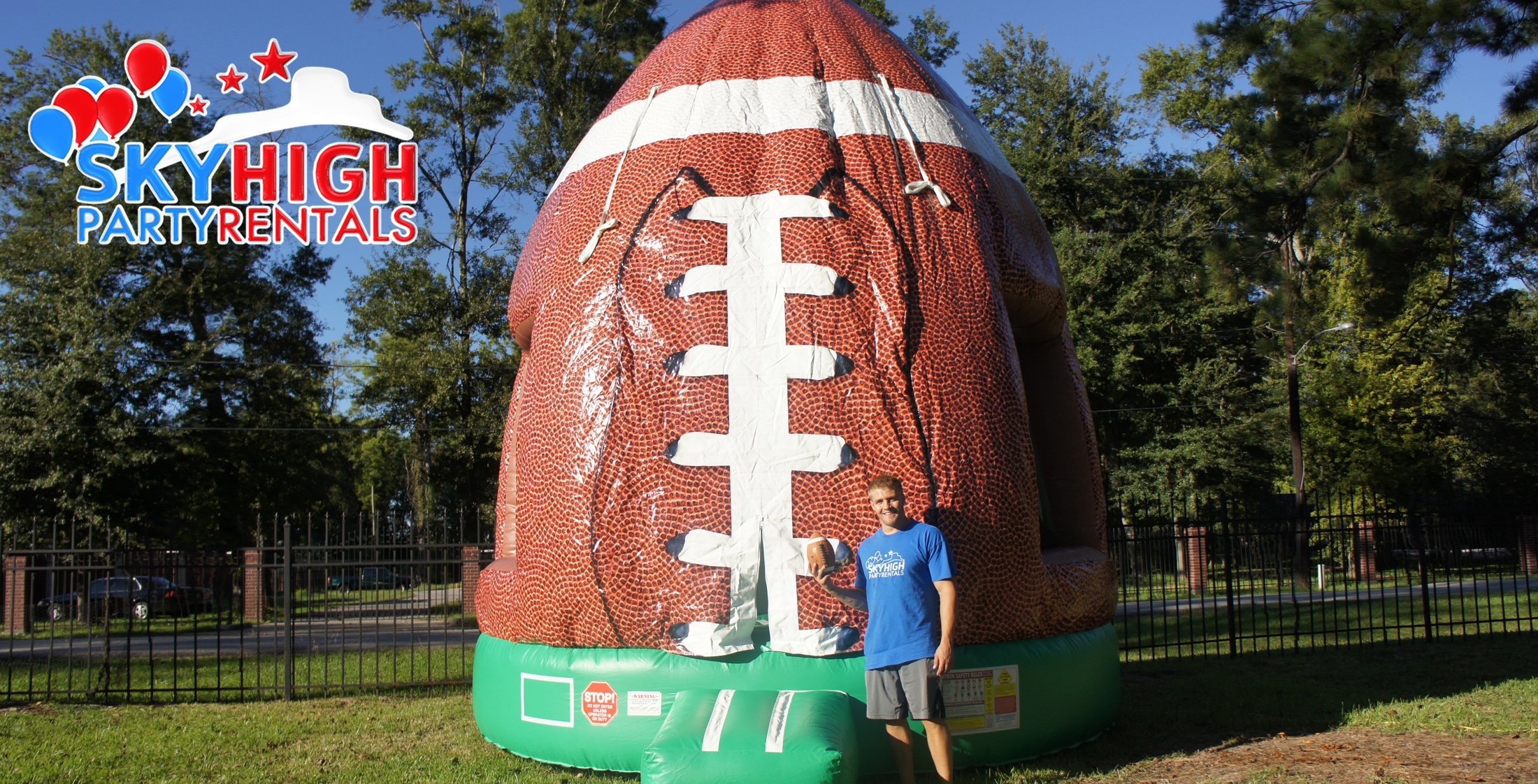 Football Bounce House Houston Sky High Party Rentals