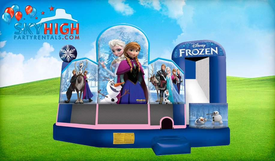 Frozen 5in1 Inflatable Moonwalk