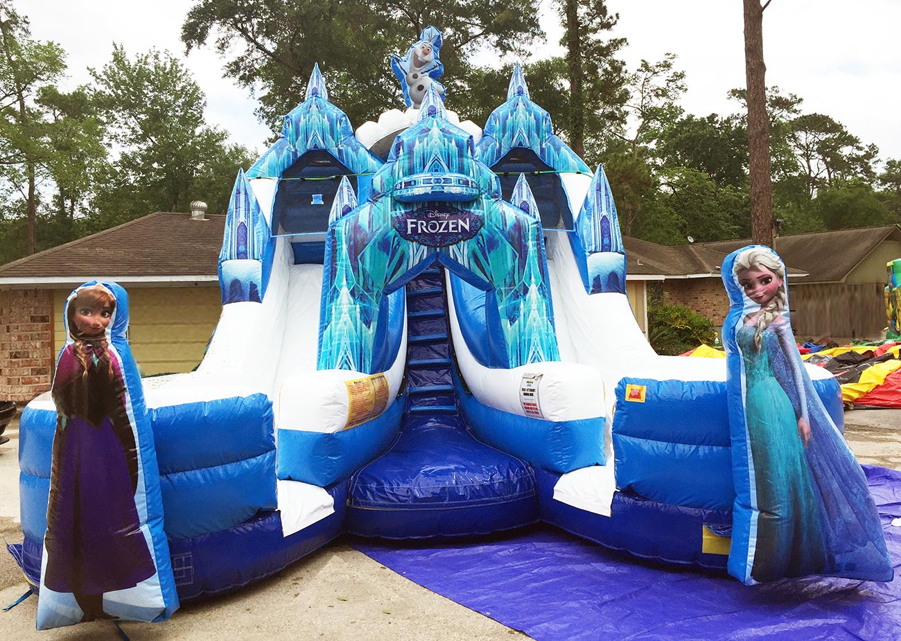 Frozen Double Water Slide Houston Tx Sky High Party Rentals