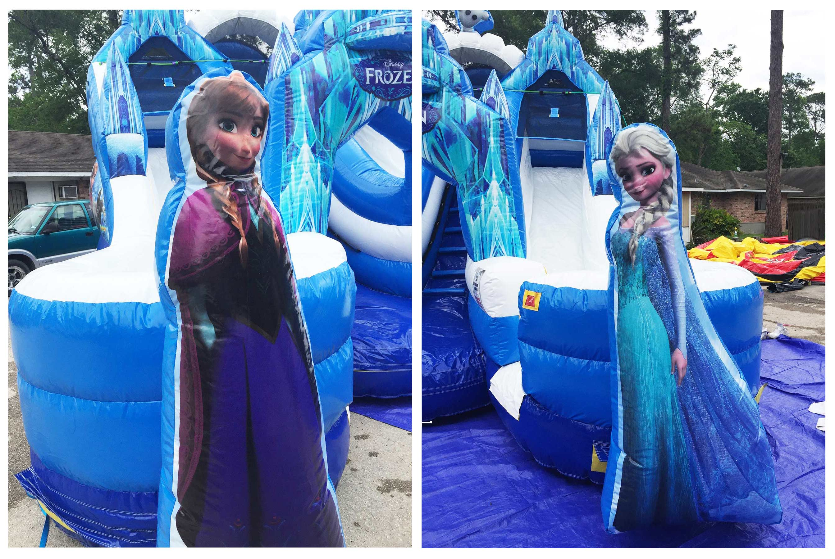 Anna Elsa Inflatable Picture Background