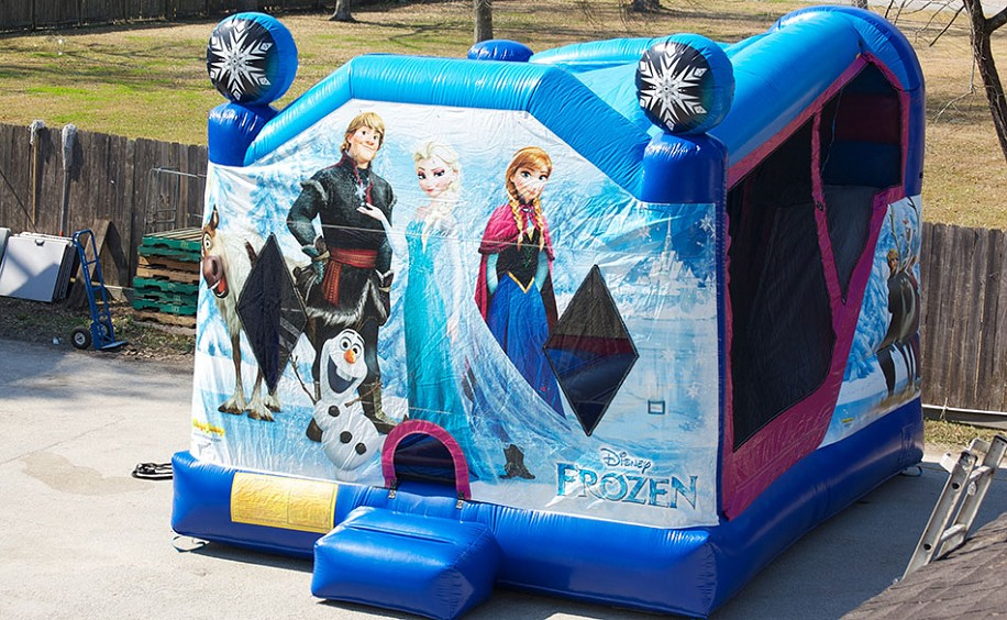 Houston Frozen Inflatable Moonwalk Slide Combo