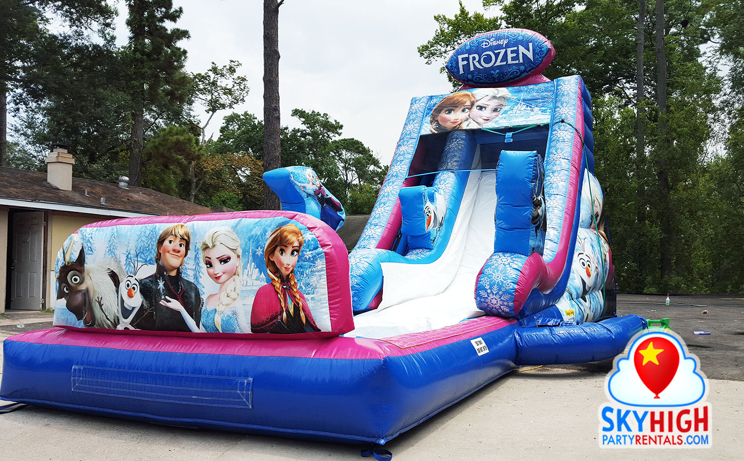 Frozen Water Slide With Pool Sky High Party Rentals
