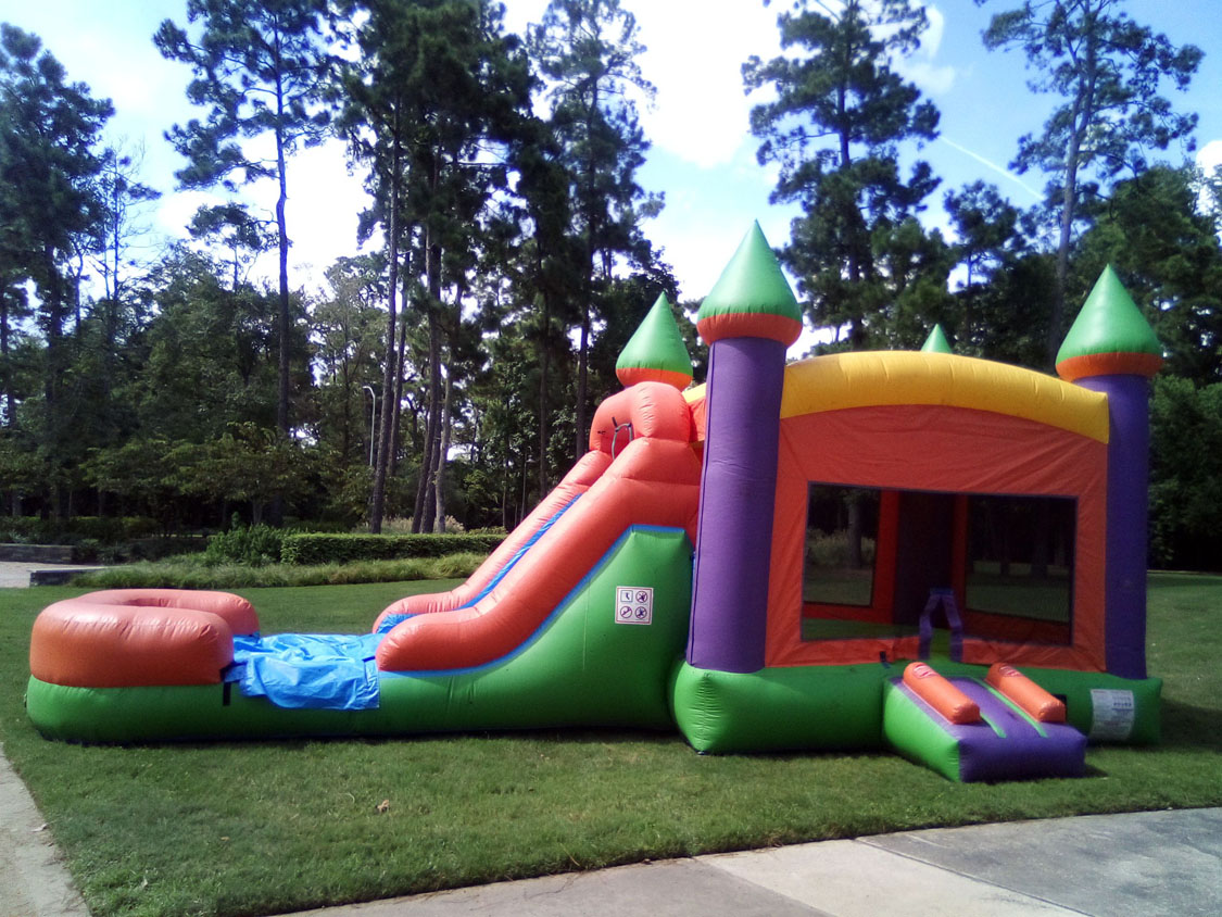 Giant-3in1-Multi-Color-Bounce-House-Austin-Texas