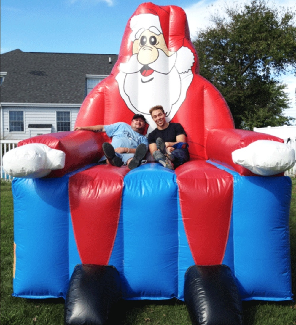 Giant Inflatable Santa Claus Chair Houston