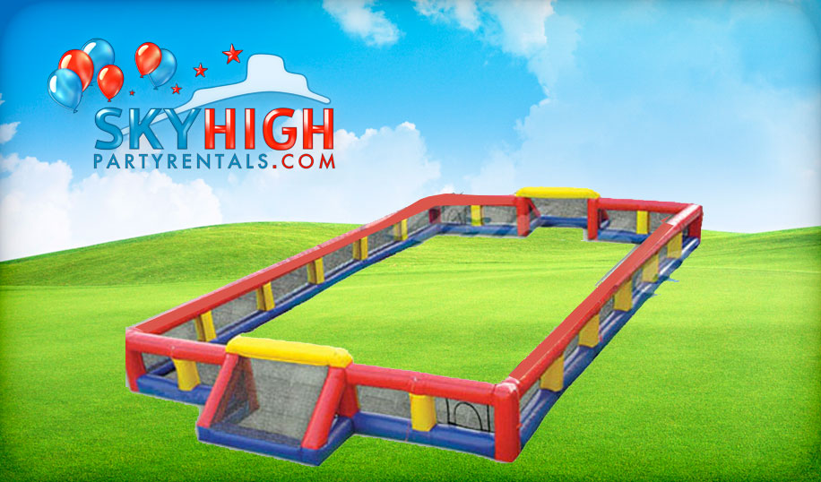 soccer field inflatable for rent