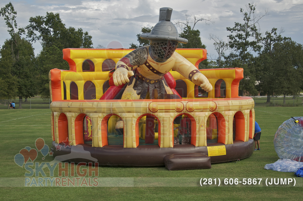 Gladiator inflatable obstacle