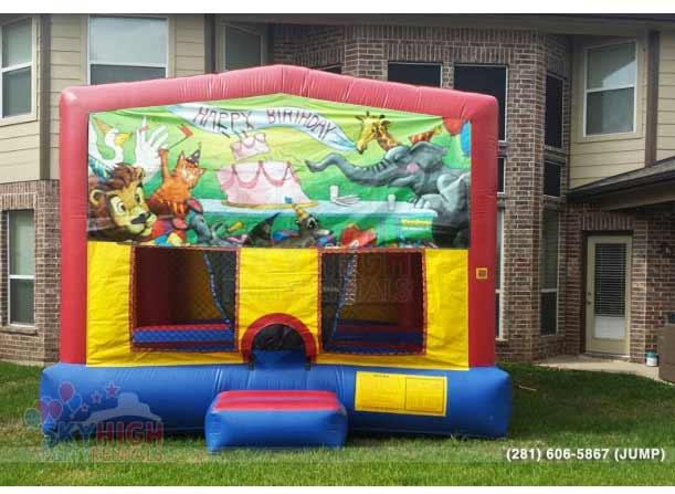 animal happy birthday bounce house