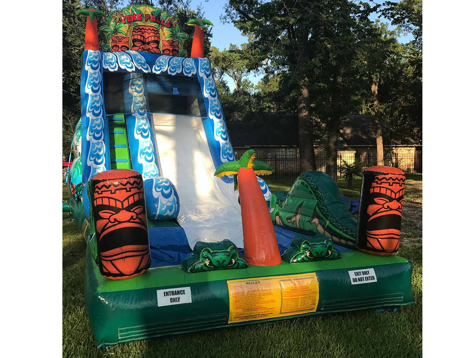 Tiki Water Slides for Rent Houston