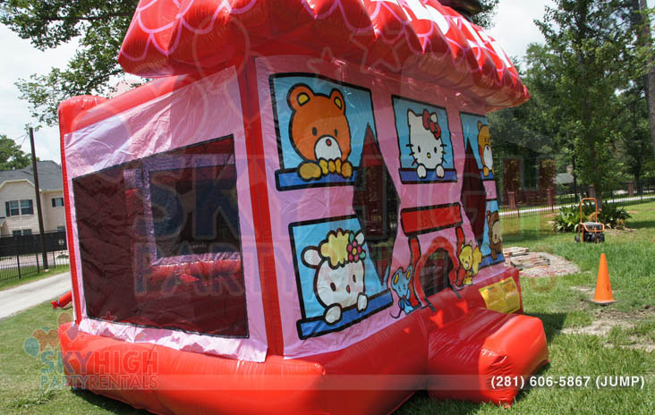 Side View of Hello Kitty Moonwalk