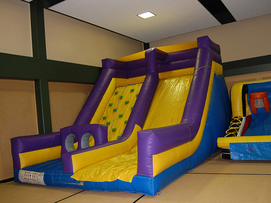 Houston Rockwall Inflatable Slide