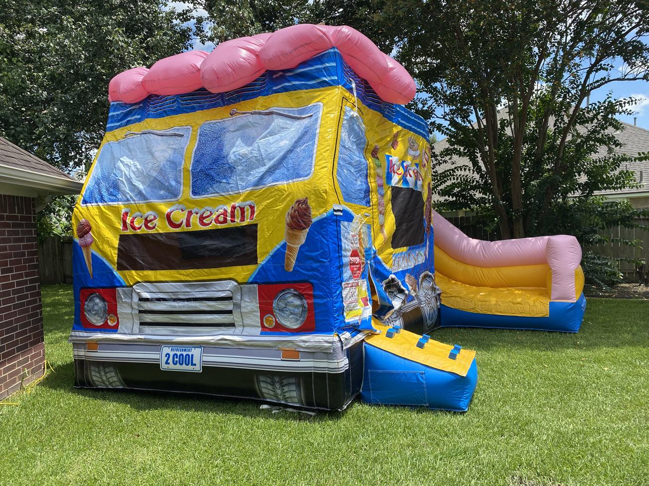 Big Ice Cream Truck Bounce House Combo