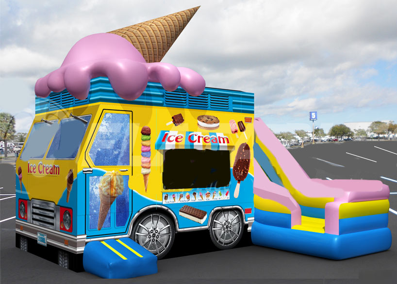 Ice Cream Truck Jump House Combo
