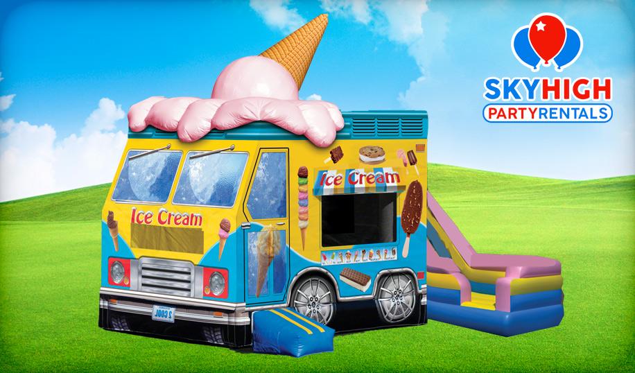 Ice Cream Bounce House Moonwalk Houston