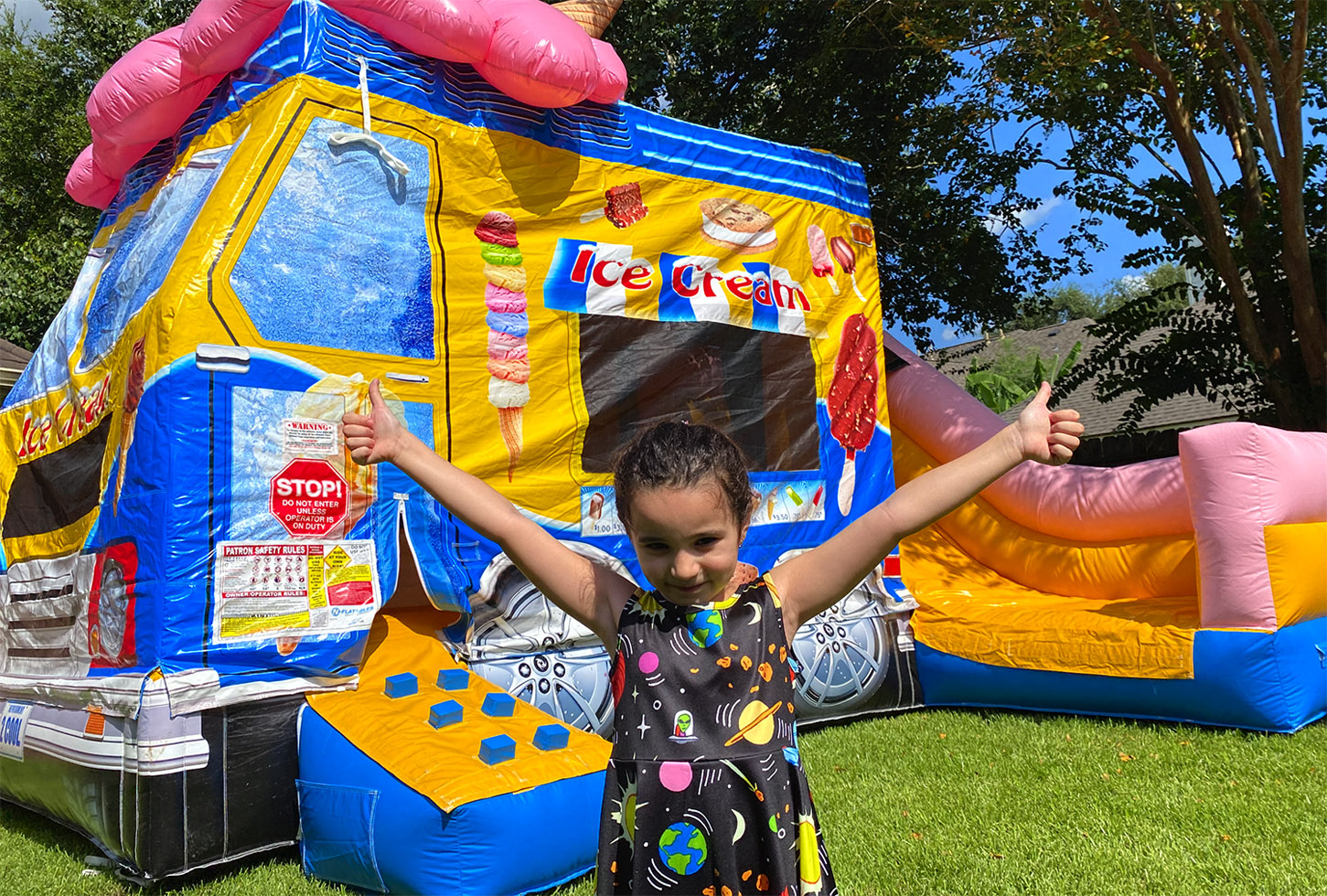 Inflatable Ice Cream Truck Bounce House Combo