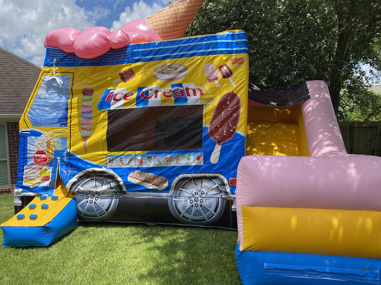 Child Ice Cream Truck Bounce House Combo