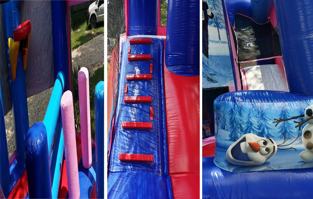 Inside Frozen Bounce House with Slide