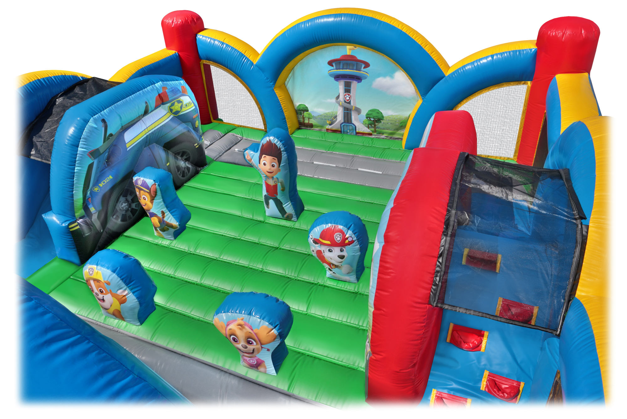 Inside the Kids Paw Patrol Bounce House Ryder and the Gang