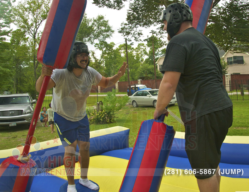 two people playing with a joust in Houston