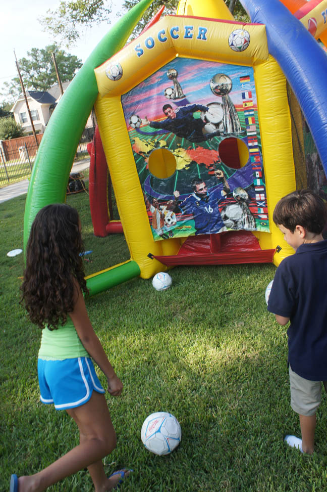 Kids sports game inflatable