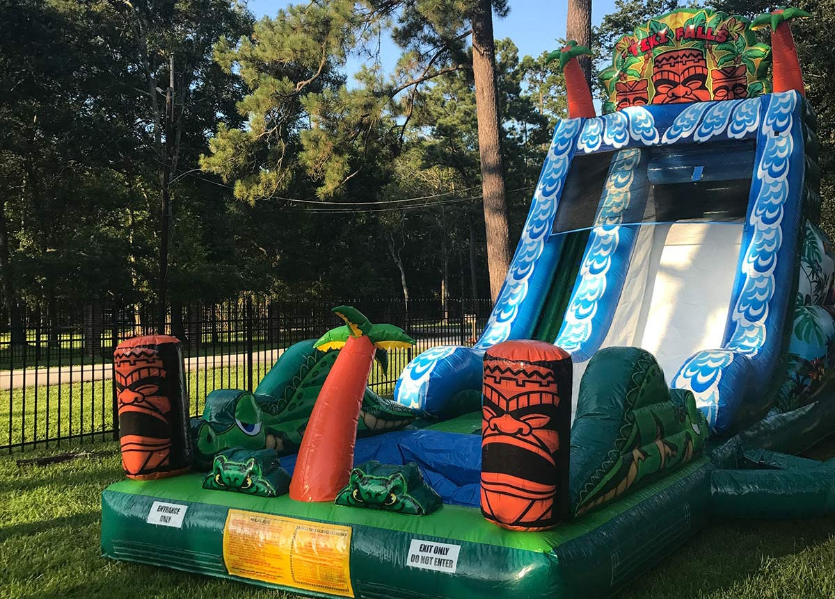 Tiki Falls Water Slide Bounce House